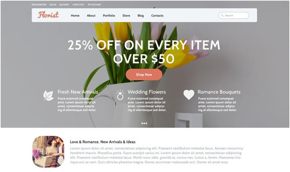 Flowers WooCommerce Theme
