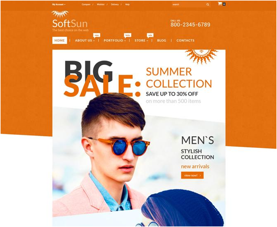 SoftSun WooCommerce Theme