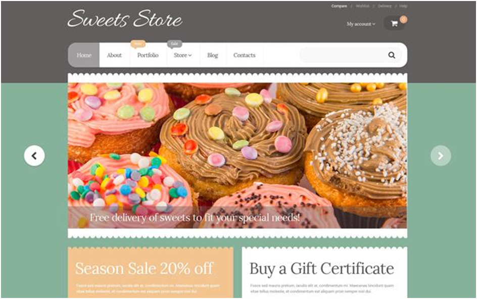 Yummy Sweets WooCommerce Theme