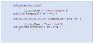 Create a SearchModel