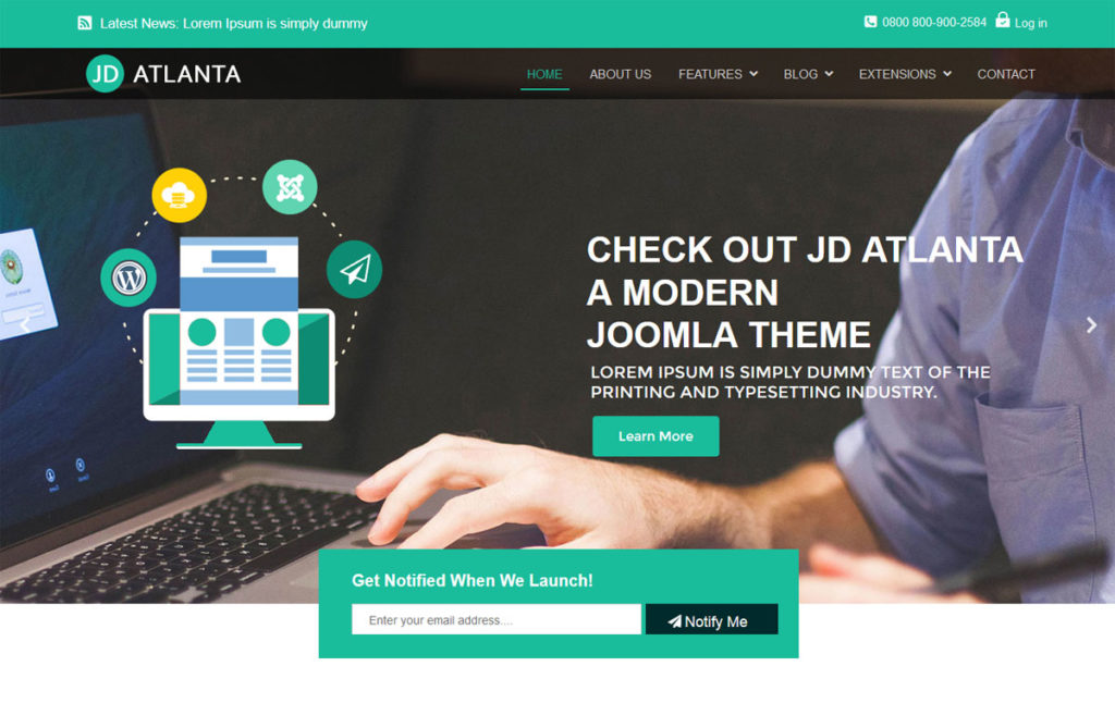 JD Atlanta free Joomla template