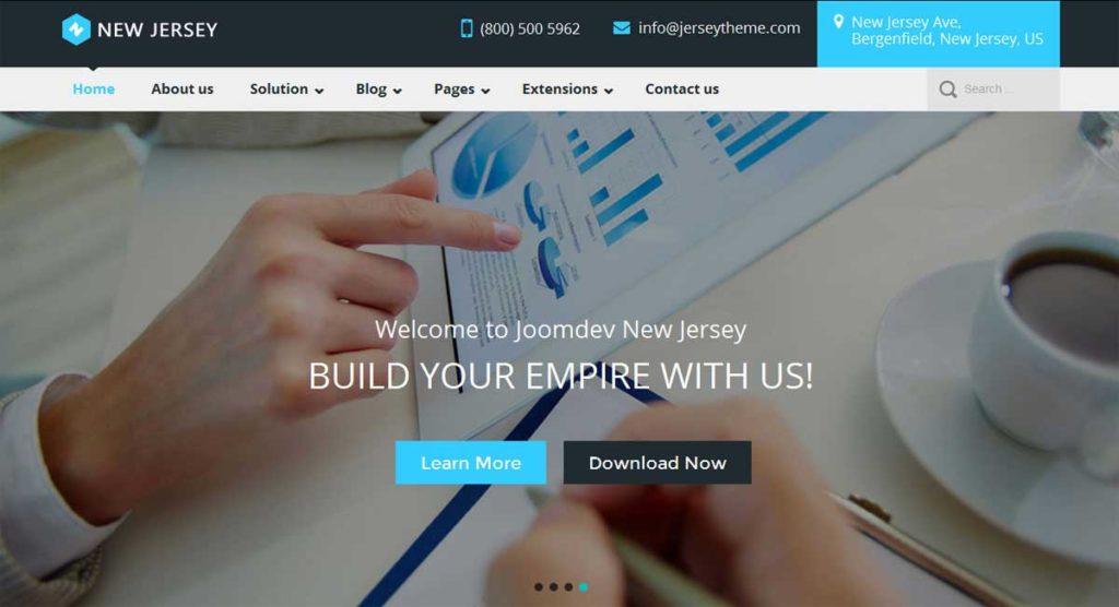 JD NewJersey Free Responsive Joomla Template