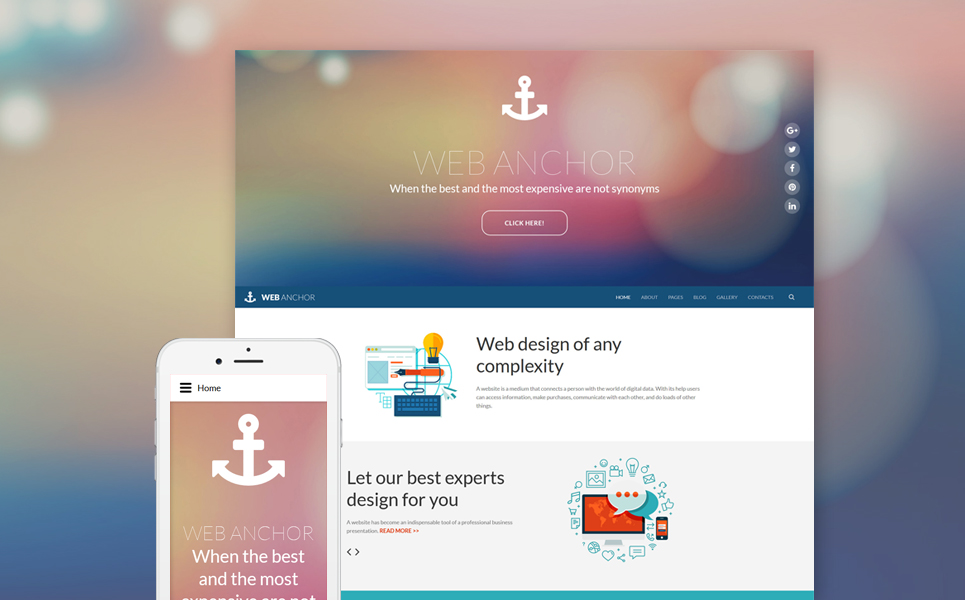 Web design free Joomla template