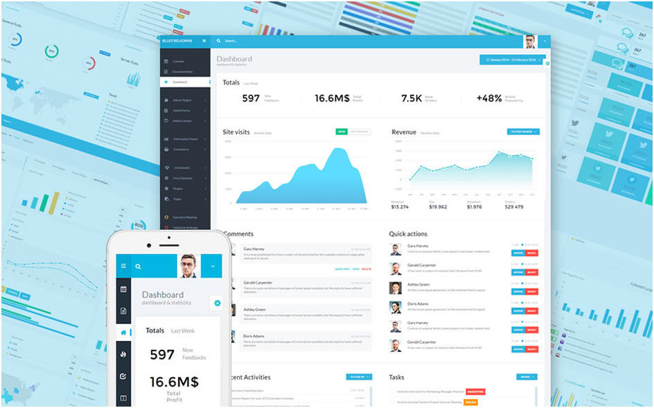 Bluefire Admin Template