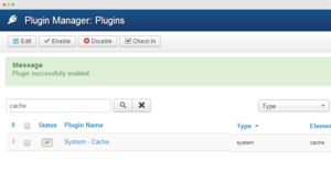 Enable Joomla system cache plugin